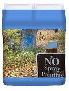 No Spray Painting Duvet Cover