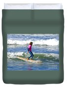 No Stress Surfing Duvet Cover