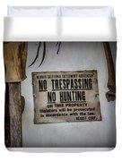 No Trespassing Duvet Cover