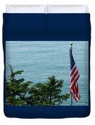 No Wind For Flag Duvet Cover