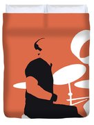 No163 My Phil Collins Minimal Music Poster Duvet Cover