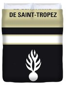 No186 My Le Gendarme De Saint-tropez Minimal Movie Poster Duvet Cover