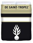 No186 My Le Gendarme De Saint-tropez Minimal Movie Poster Duvet Cover