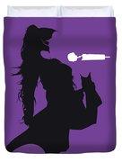 No201 My Jennifer Lopez Minimal Music Poster Duvet Cover