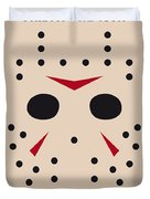 No449 My Friday The 13th Minimal Movie Poster Duvet Cover by Chungkong Art
