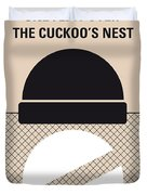 No454 My One Flew Over The Cuckoos Nest Minimal Movie Poster Duvet Cover