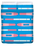 No521 My Knocked Up Minimal Movie Poster Duvet Cover by Chungkong Art