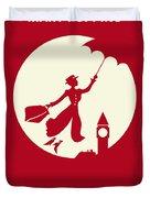 No539 My Mary Poppins Minimal Movie Poster Duvet Cover by Chungkong Art