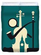 No555 My Sherlock Holmes Minimal Movie Poster Duvet Cover by Chungkong Art