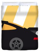 No627 My Bad Boys Minimal Movie Poster Duvet Cover