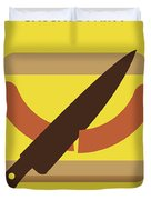 No704 My Sausage Party Minimal Movie Poster Duvet Cover