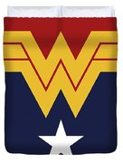 No825 My Wonder Woman Minimal Movie Poster Duvet Cover