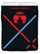No940 My Star Wars Episode Viii The Last Jedi Minimal Movie Poster Duvet Cover
