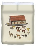 Noah's Ark And Animals Duvet Cover