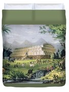 Noahs Ark Duvet Cover by Currier and Ives