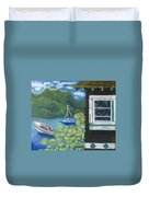 Noble Cottage At The Lake Duvet Cover