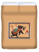 Nobleman Riding Elephant Duvet Cover