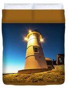 Nobska Light Falmouth Ma Cape Cod Window Shadow Duvet Cover