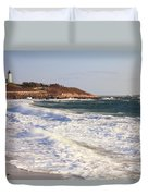 Nobska Point Seascape Duvet Cover