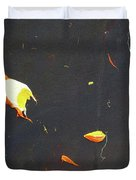 Nocturn In Black And Gold Duvet Cover