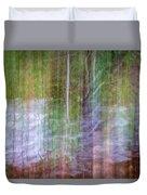 Noland Creek Abstract 1 Duvet Cover