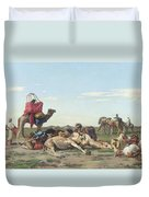 Nomads In The Desert Duvet Cover by Georges Washington