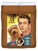 Norfolk Terrier Art Canvas Print - East Of Eden Movie Poster Duvet Cover