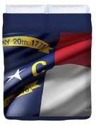 Norh Carolina State Flag Duvet Cover