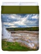 Norris Geyser Basin Duvet Cover