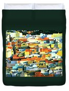 North African Townscape Duvet Cover