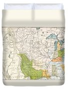 North American Indian Tribes, 1833 Duvet Cover