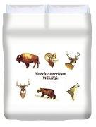 North American Wildlife Duvet Cover