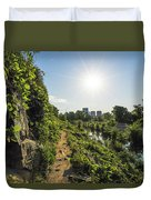 North Bank Trail Cliff Duvet Cover