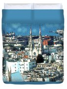 North Beach San Francisco - Watercolor Duvet Cover