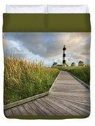 North Carolina Bodie Island Lighthouse Summer Duvet Cover