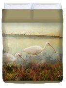 North Carolina Ibis Duvet Cover