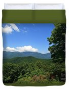 North Carolina Mountains In The Summer Duvet Cover