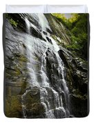 North Carolina Waterfall Hickory Nut Falls Photography  Duvet Cover