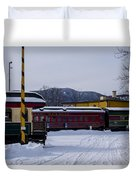 North Conway Nh Scenic Railroad Duvet Cover