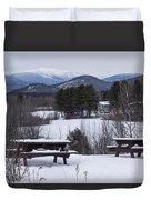 North Conway Winter Mountains Duvet Cover