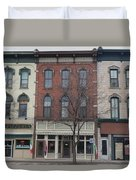 North Country Main Street Of Gouverneur, New York Duvet Cover
