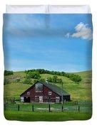 North Dakota Barn Duvet Cover