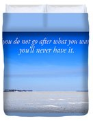North Dakota Prairie Landscape With Inspirational Text Duvet Cover