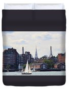 North End  Of Boston  Duvet Cover