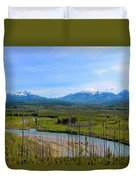 North Fork Flathead River Duvet Cover