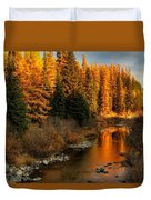 North Fork Yaak River Fall Colors #1 Duvet Cover