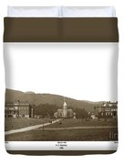 North Hall, Bacon Hall, Library, South Hall, University Of Calif Duvet Cover