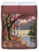 North Lake By Prankearts Duvet Cover