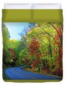 North Of The Folk Art Center In Fall Duvet Cover