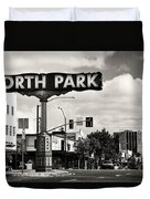 North Park San Diego Duvet Cover